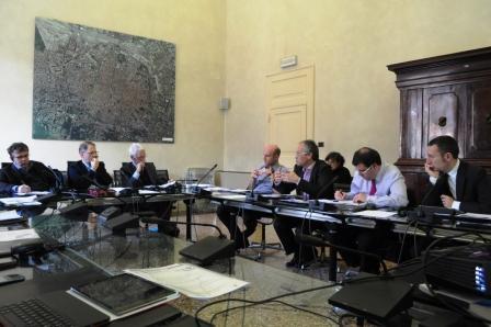 Tecnici della Delegazione Catalana, Giuliano Barigazzi, Capo di Gabinetto del Sindaco di Bologna, Daniele Donati e Luciano Vandelli